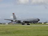 A KC-135 Stratotanker Lands On the Runway at Kadena Air Base  Japan