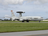 An E-3 AWACS Comes Into Land at Kadena Air Base  Okinawa  Japan