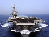 The Aircraft Carrier USS Dwight D Eisenhower Transits the Arabian Sea