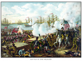 Digitally Restored War of 1812 Print at the Battle of New Orleans