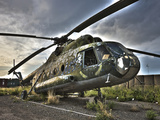 HDR Image of An Afghanistan National Army Mil Mi-17 Helicopter