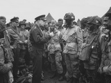 General Dwight D Eisenhower Talking with Soldiers of the 101st Airborne Division