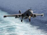 An EA-6B Prowler Lands Aboard the Aircraft Carrier USS John C Stennis