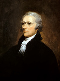 Vintage American History Painting of Founding Father Alexander Hamilton