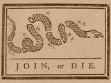 The Join Or Die Print Was a Political Cartoon Created by Benjamin Franklin