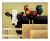Vache de ferme Reproduction d'art par Lowell Herrero