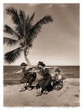 Hula Dancers on the Beach  Hawai'i