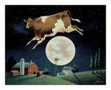 Cow Jumps over the Moon Reproduction d'art par Lowell Herrero