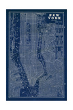 Blueprint Map New York Reproduction d'art par Sue Schlabach