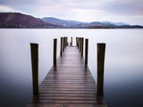 Jetty on Derwentwater, Cumbria, UK Papier Photo par Nadia Isakova