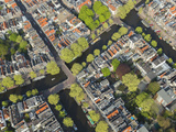Aerial View of Amsterdam  Holland  Netherlands