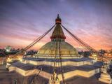 Nepal, Kathmandu, Bodhnath (Boudha) Stupa Papier Photo par Michele Falzone