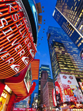 USA  New York City  Manhattan  Times Square  Neon Lights of 42nd Street