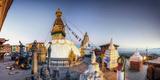 Nepal, Kathmandu, Swayambhunath Stupa Papier Photo par Michele Falzone