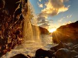 USA  Hawaii  Kauai  Queen's Bath and Waterfall