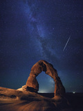 USA  Utah  Moab  Arches National Park  Delicate Arch and Milky Way