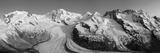 Monte Rosa Range and Gornergletscher  Zermatt  Valais  Switzerland