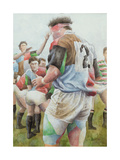 Rugby Match: Harlequins v Northampton  Brian Moore at the Line Out  1992