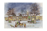Village Street in the Snow