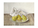Three Pears on a Plate  Still Life  1990