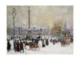 Winter's Mantle  Trafalgar Square  London