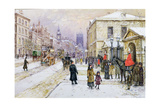 Winter's Mantle - Horse Guards'  Whitehall  C1890