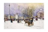 A Winter's Day  Trafalgar Square  C1897