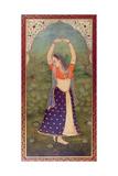 Woman in a Green Landscape