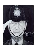 Portrait of Jack Warner as Dixon of Dock Green  Illustration for 'The Listener'  1970s