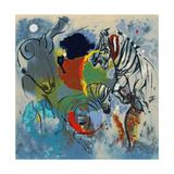 Zebras, 1988 Giclée premium par Jane Deakin