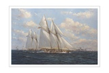The America's Cup 1871 'Columbia Leading Livonia'