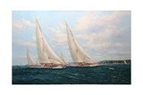 J Class Yachts Racing Off Cowes 1935
