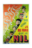 Poster Advertising the Cigarette Brand  Le Nil