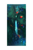 Green Waterfall Giclée premium par Jane Deakin