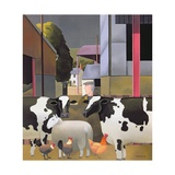 Farmer with Cows  1992
