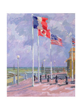 Flags at Courseulles  Normandy
