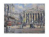 The Bank Crossing  the Royal Exchange and the Bank of England C1930