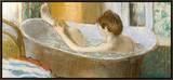 Woman in Her Bath  Sponging Her Leg  circa 1883