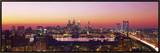 Arial View of the City at Twilight  Philadelphia  Pennsylvania  USA