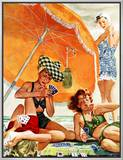 """Card Game at the Beach "" August 28  1943"