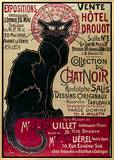 Poster Advertising an Exhibition of the Collection Du Chat Noir Cabaret at the Hotel Drouot  Paris