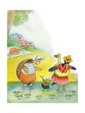 Ted, Ed and Caroll the Tiny Fish - Turtle Giclée par Valeri Gorbachev