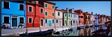 Houses at the Waterfront  Burano  Venetian Lagoon  Venice  Italy