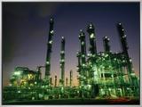 Oil Refinery at Dusk  Houston Texas