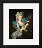 Marie Antoinette (1755-93) with a Rose  1783