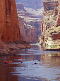 Arizona  Grand Canyon  Kayaks and Rafts on the Colorado River Pass Through the Inner Canyon  USA