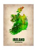 Ireland Watercolor Map
