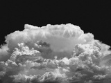 New Mexico Cloud Thunderhead Landscape Abstract in Black and White  New Mexico