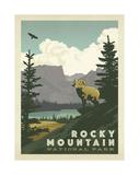Parc national de Rocky Mountain Reproduction d'art par Anderson Design Group