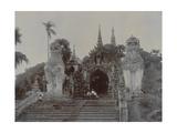 The Shwedagon Pagoda at Rangoon  Burma  C1860